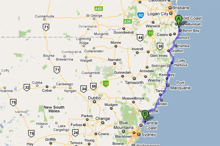 Sydney Heads map - Ecosia