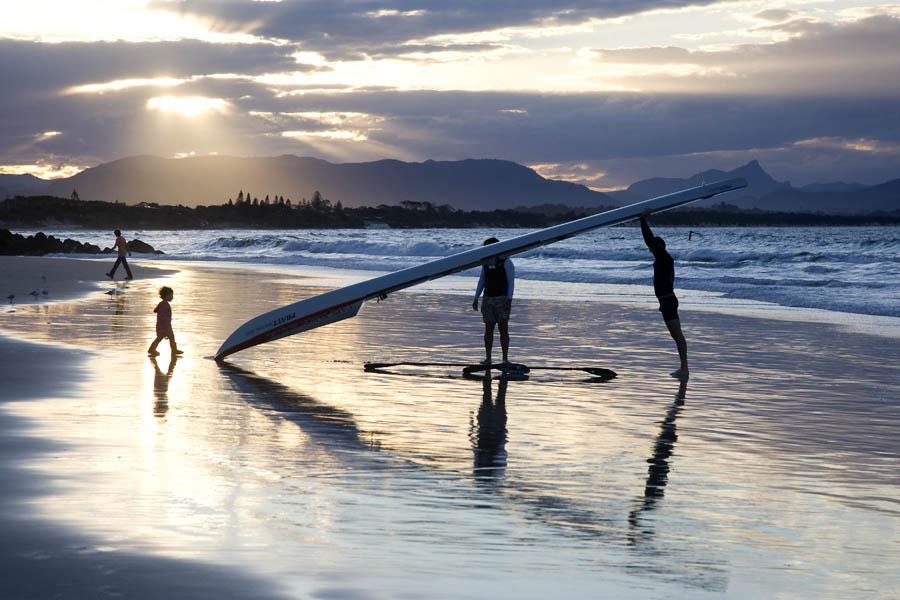 Dusk on Byron Bay Beach